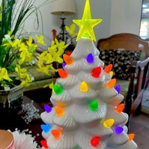 Vintage Style Ceramic White Christmas Tree